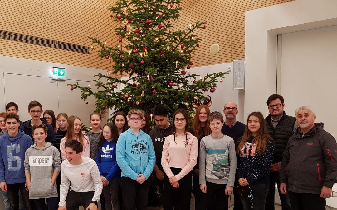 Klassensammlung Advent am Maristen-Gymnasium Furth